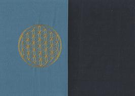 Blume des Lebens Blau + Marine