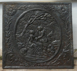 ID 98 - Galante Szene im Medaillon - Galantry in a Medallion