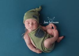 Fotoaccessoire Body Mütze Newborn Babyfotografie