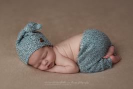 Newborn Outfit Mütze & Hose Babyfotografie Fotoaccessoire
