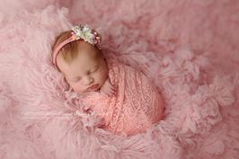 Haarband elastisches Tuch Blumenhaarband Baby fotografie Neugeborenen Fotografie Spitzentuch Babyfotografie