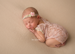 Fotoshooting Babyfotografie Outfit & Haarband Neugeborene