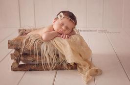 Kiste aus Holz Baby Fotografie