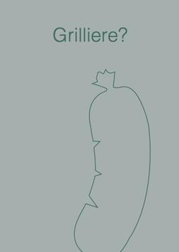 Postkarte Grilliere grau