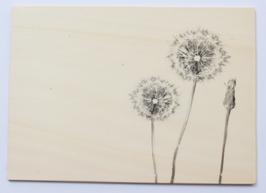 Holzpostkarte Löwenzahn 100