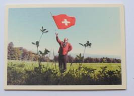 Holzpostkarte Fahnenschwinger 023