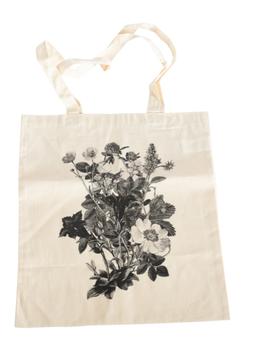 Stofftaschen mit Blumen