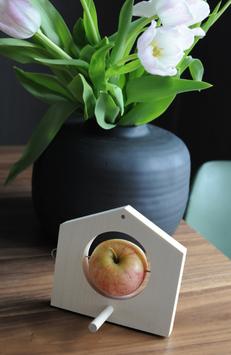 Vogelhäuschen oder Apfelpicker in einem Stoffbeutel verpackt 201612