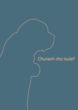 Postkarte Chunsch cho loufe blau