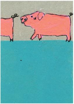 Postkarte Illu Schwein 20192626
