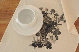 Geschirrtuch mit Siebdruck Blumen 20170346