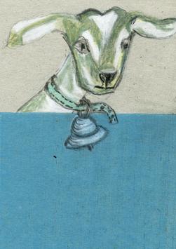 Postkarte Illu Ziege 20192525