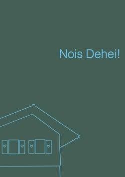 Postkarte Nios Dehei dunkelgrün
