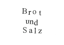 Postkarte Brot und Salz