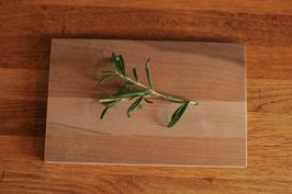 kleines Holzbrett ohne Muster