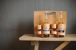 Flaschenhalter aus echtem Rindsleder