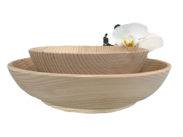 "Wood bowl -  100% pure natural untreated Swiss stone pine wood called ""Zirbe, Zirbelkiefer or Arve"""