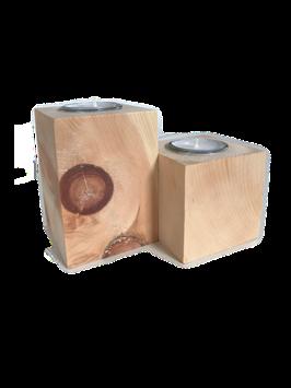 Theelichthouder - 100% zuiver onbehandeld hout van de Alpenden