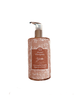Alpenden vloeibare zeep, met BIO schapenmelk en essentiële olie van de Alpenden (Arve, Zirbe, Zirbelkiefer, Pinus Cembra)