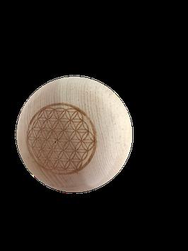 Houten ballen natuur of met gravure bloem van het leven -  100% zuiver onbehandeld hout van de Alpenden
