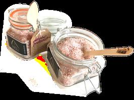 DETOX badzout - met puur natuurlijk roze Himalaya zout, BIO Rosa Damascena 100% essentiële olie, handgeplukte BIO Rosa Damascena blaadjes