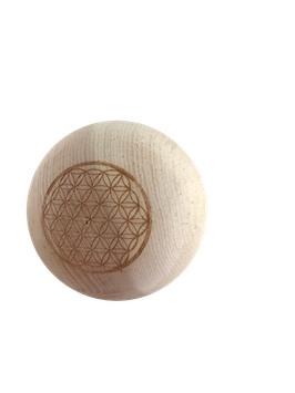 "Wood balls natural or with gravure flower of life -  100% pure natural untreated Swiss stone pine wood called ""Zirbe, Zirbelkiefer or Arve"""