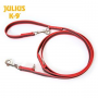 julius k-9 - Super-grip guinzaglio nylon-gomma da addestramento 20mm x 2,2m - ROSSO