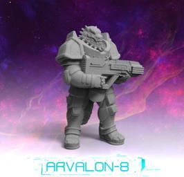 Arvalon Crew Itta Echsen-Soldat