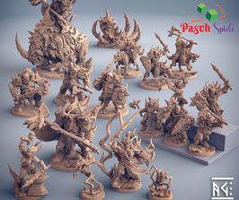 Kompletter Frostclan Stamm - 18 Miniaturen