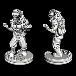 Cyborg Faustkämpfer
