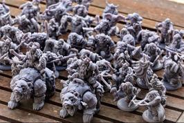 Komplettes Zwergenheer - 59 Miniaturen