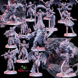 Dämonen + Jäger Set 14 Miniaturen