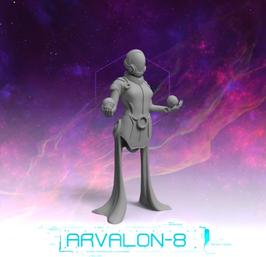 Arvalon Crew Ph´ls schwebende Technomanceress