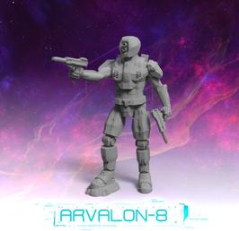 Arvalon Crew P100-K9 Revolver-Einheit