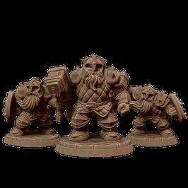 3 Zwergenkrieger mit Hammer