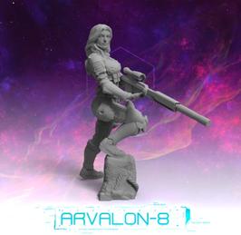 Arvalon Crew Domino augmentierte Scharfschützin