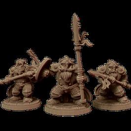 3 Zwergenkrieger mit Speer