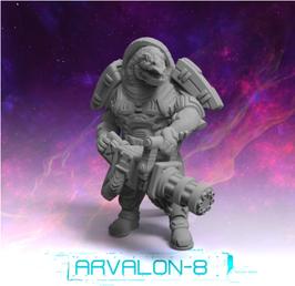 Arvalon Crew Grunk Echsen-Minigunner