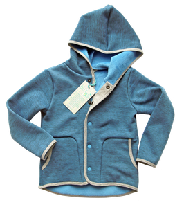 Powerstretch Kinderjacke - blau