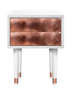 Nachttisch mit Kupfer