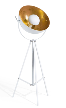 Stehlampe weiß/gold