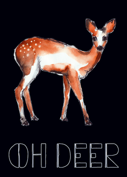 "CARD ""OH DEER"""