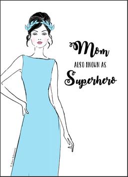 "DIGITALE Datei ""Mom also known as Superhero"" für DIN A6"