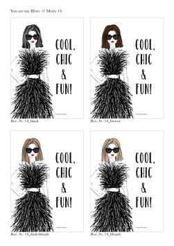 """DIGITALE Datei """"Cool, Chic & Fun!"""" für DIN A6"""