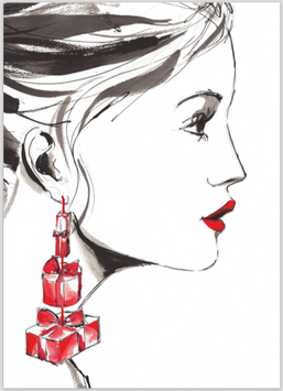 "CARD ""HOLIDAY SEASON"" (CHRISTMAS EARRINGS)"