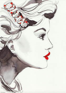 PRINT RED LIPS | DIN A3