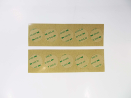10 pcs adhesive sheet dots for 35 mm piezo elements / permanent