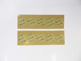 10x Klebefolie Punkte für 35 mm Piezo / permanent klebend