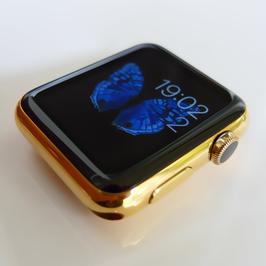 23 Karat Vergoldung Ihres Apple Watch Gehäuses aus Edelstahl