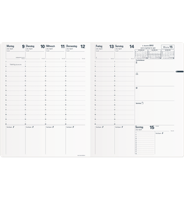 Quo Vadis Kalender 2022 Trinote - 18x24cm